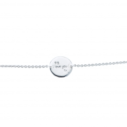 """Bracelet """"P.S. : I Love You ! Xx"""" Argent"""