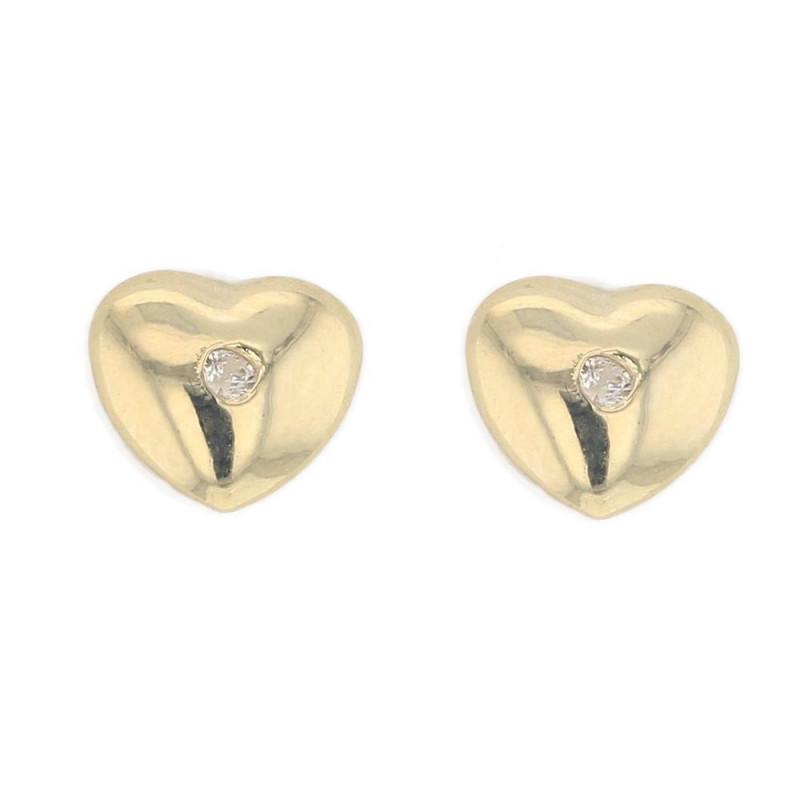 Boucles d'oreilles Cœur  en Or Jaune