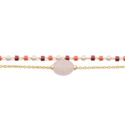 Boucles d'Oreilles Boutons en Or et Perles de Culture Eau Douce