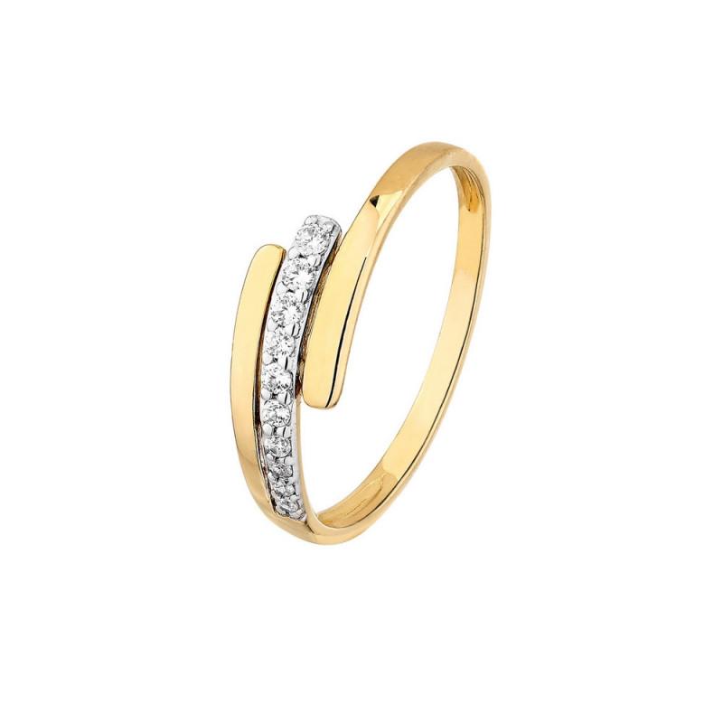 Bracelet en Plaqué Or et Cristal